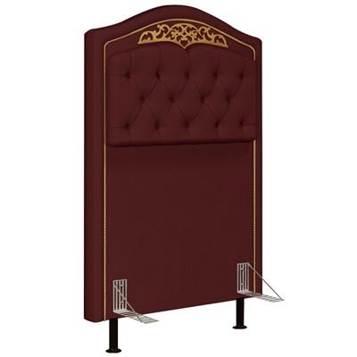 Cabeceira Cama Box Solteiro 90cm Imperial J02 Suede Vinho - Mpozenato