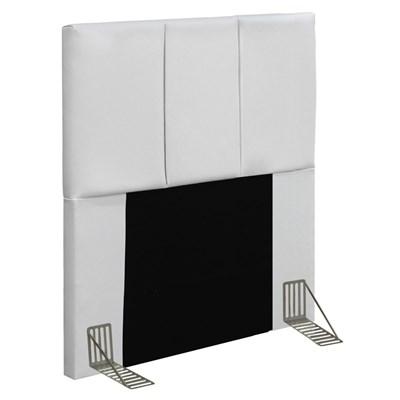 Cabeceira Cama Box Solteiro 90CM Pérola D10 Corano Branco - Mpozenato