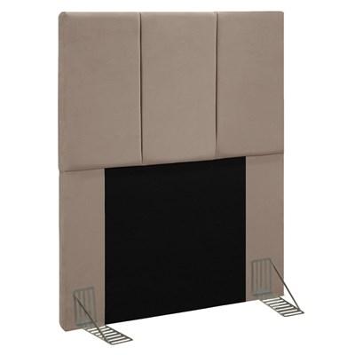 Cabeceira Cama Box Solteiro 90CM Pérola D10 Suede Bege - Mpozenato