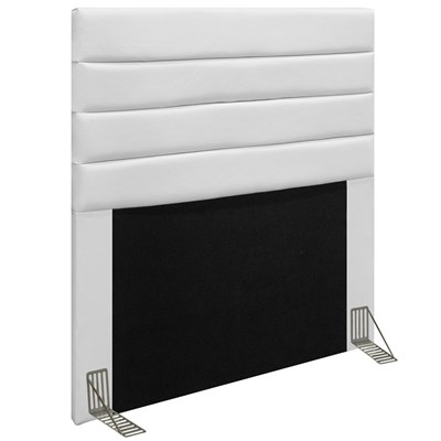 Cabeceira Cama Box Solteiro 90CM Rubi D10 Corano Branco - Mpozenato