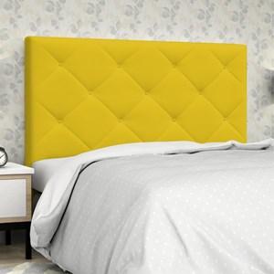 Cabeceira Casal 140 cm Oásis Corino Amarelo - D'Monegatto