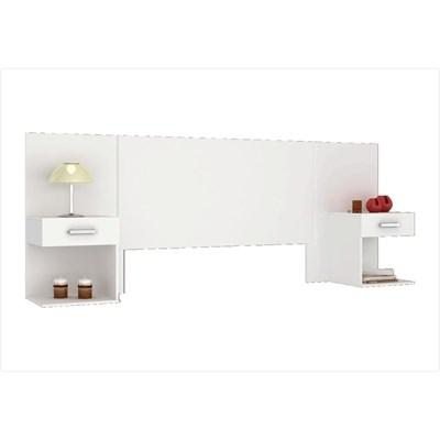 Cabeceira Casal Calenda com Mesa Lateral Branco - Henn