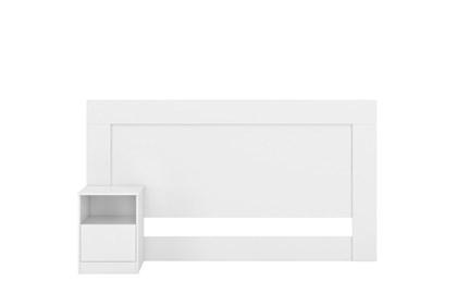 Cabeceira Casal Cama Box 138 cm 1 Criado London Branco - Demóbile