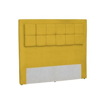 Cabeceira Casal Cama Box 140 cm Giovana Amarelo - Condor Decor