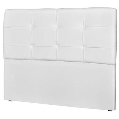 Cabeceira Casal Cama Box 140 cm London Corano Branco - JS Móveis