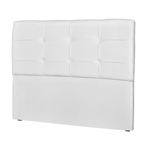 Cabeceira Casal Cama Box 140 cm London Corino Branco - JS Móveis