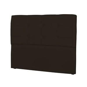 Cabeceira Casal Cama Box 140 cm London Corino Marrom - JS Móveis