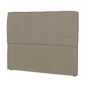 Cabeceira Casal Cama Box 160 cm London Corino Areia - JS Móveis