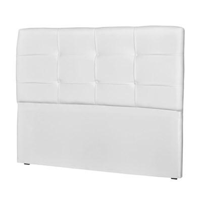 Cabeceira Casal Cama Box 160 cm London Corino Branco - JS Móveis