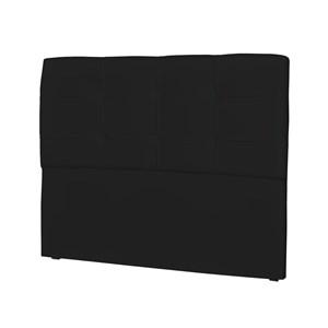 Cabeceira Casal Cama Box 160 cm London Corino Preto - JS Móveis