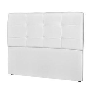 Cabeceira Casal Cama Box 195 cm London Corino Branco - JS Móveis