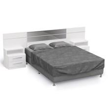 Cabeceira Casal Cama Box Normal/Queen B290 com Criado Mudo Branco - Kappesberg