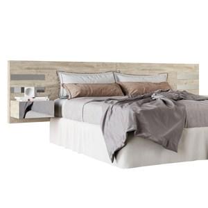 Cabeceira Casal Extensível Criado Mudo Cama Box Queen/King Aura Aspen - HB Móveis
