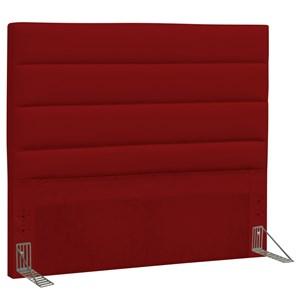 Cabeceira Casal Greta 140 cm Corino Vermelho - D'Monegatto