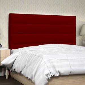 Cabeceira Casal Greta 140 cm Suede Liso Vermelho - D'Monegatto