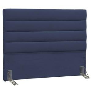 Cabeceira Casal Greta 140cm Suede Azul Marinho - D'Monegatto