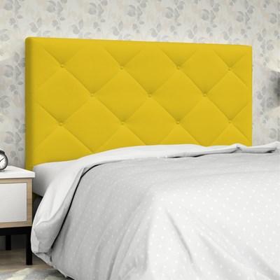 Cabeceira Casal King 195 cm Oásis Corano Amarelo - D'Monegatto