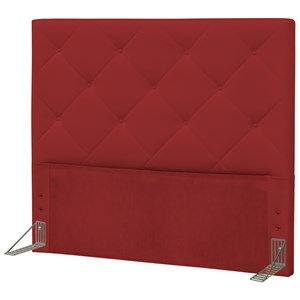 Cabeceira Casal King 195 cm Oásis Corano Vermelho - D'Monegatto