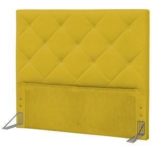 Cabeceira Casal King 195 cm Oásis Corino Amarelo - D'Monegatto