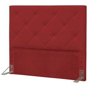 Cabeceira Casal King 195 cm Oásis Corino Vermelho - D'Monegatto