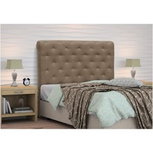 Cabeceira Casal King Buona Notte 195 cm Suede Liso Marrom Chocolate - D'Monegatto