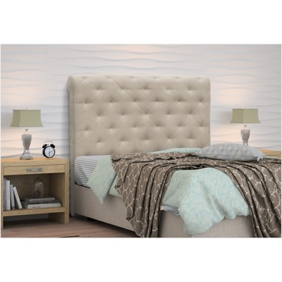 Cabeceira Casal King Buona Notte 195cm Suede Liso Bege - D'Monegatto