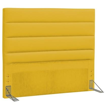 Cabeceira Casal King Greta 195 cm Corino Amarelo - D'Monegatto
