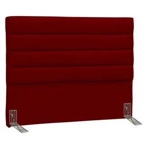 Cabeceira Casal King Greta 195 cm Suede Liso Vermelho - D'Monegatto