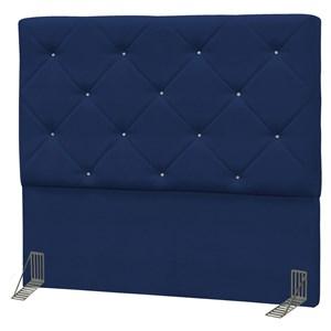 Cabeceira Casal King Oásis 195 cm Suede Liso Azul Marinho - D'Monegatto