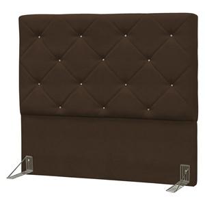 Cabeceira Casal King Oásis 195 cm Suede Liso Marrom Chocolate - D'Monegatto