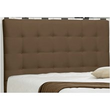 Cabeceira Casal King Sonhare 195 cm Suede Liso Marrom Chocolate - D'Monegatto