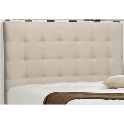Cabeceira Casal King Sonhare 195cm Suede Liso Bege - D'Monegatto