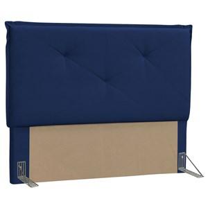 Cabeceira Casal King Vic 195cm Suede Azul Marinho - D'Monegatto