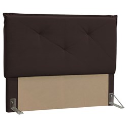 Cabeceira Casal King Vic 195cm Suede Marrom - D'Monegatto