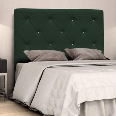 Cabeceira Casal Oásis 140cm Suede Liso Verde Musgo - D'Monegatto