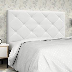 Cabeceira Casal Queen 160 cm Oásis Corino Branco - D'Monegatto
