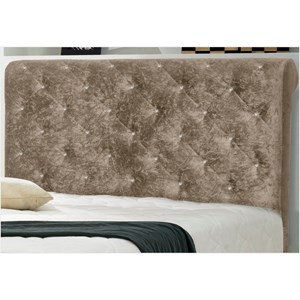 Cabeceira Casal Queen Buona Notte 160 cm Suede Amassado Marrom Taupe - D'Monegatto