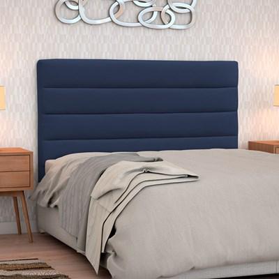 Cabeceira Casal Queen Greta 160cm Suede Azul Marinho - D'Monegatto