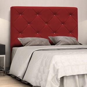 Cabeceira Casal Queen Oásis 160 cm Suede Liso Vermelho - D'Monegatto