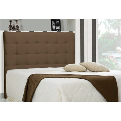 Cabeceira Casal Queen Sonhare 160 cm Suede Liso Marrom Chocolate - D'Monegatto