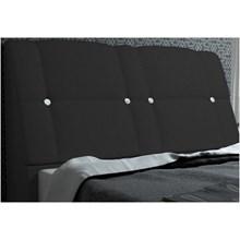 Cabeceira Itália para Cama Casal Box 140 cm Suede Amassado Preto - JS Móveis