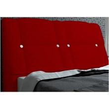 Cabeceira Itália para Cama Casal Box 140 cm Suede Amassado Vermelho - JS Móveis