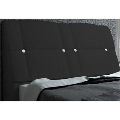 Cabeceira Itália para Cama Casal Box 160 cm Suede Amassado Preto - JS Móveis