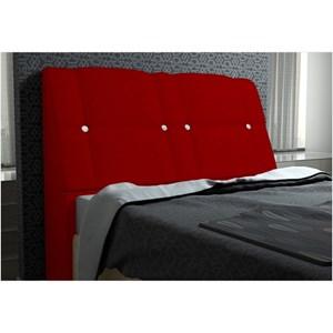 Cabeceira Itália para Cama Casal Box 160 cm Suede Amassado Vermelho - JS Móveis