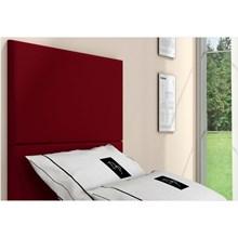 Cabeceira Painel 2 Placas Para Cama Box Solteiro 90 cm Suede Animale Vermelho - TES Decor