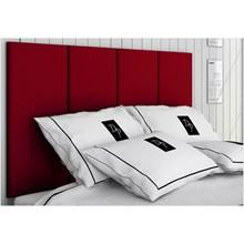 Cabeceira Painel 4 Placas Para Cama Box Casal 140 cm Suede Animale Vermelho - TES Decor