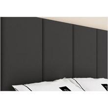 Cabeceira Painel 4 Placas Para Cama Box Casal 140 cm Suede Preto - TES Decor