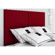 Cabeceira Painel 4 Placas Para Cama Box Casal King 200 cm Suede Animale Vermelho - TES Decor