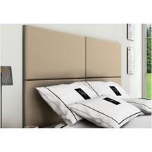 Cabeceira Painel 4 Placas Para Cama Box Casal King 200 cm Suede Marfim - TES Decor