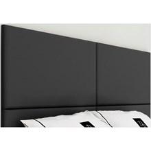 Cabeceira Painel 4 Placas Para Cama Box Casal King 200 cm Suede Preto - TES Decor
